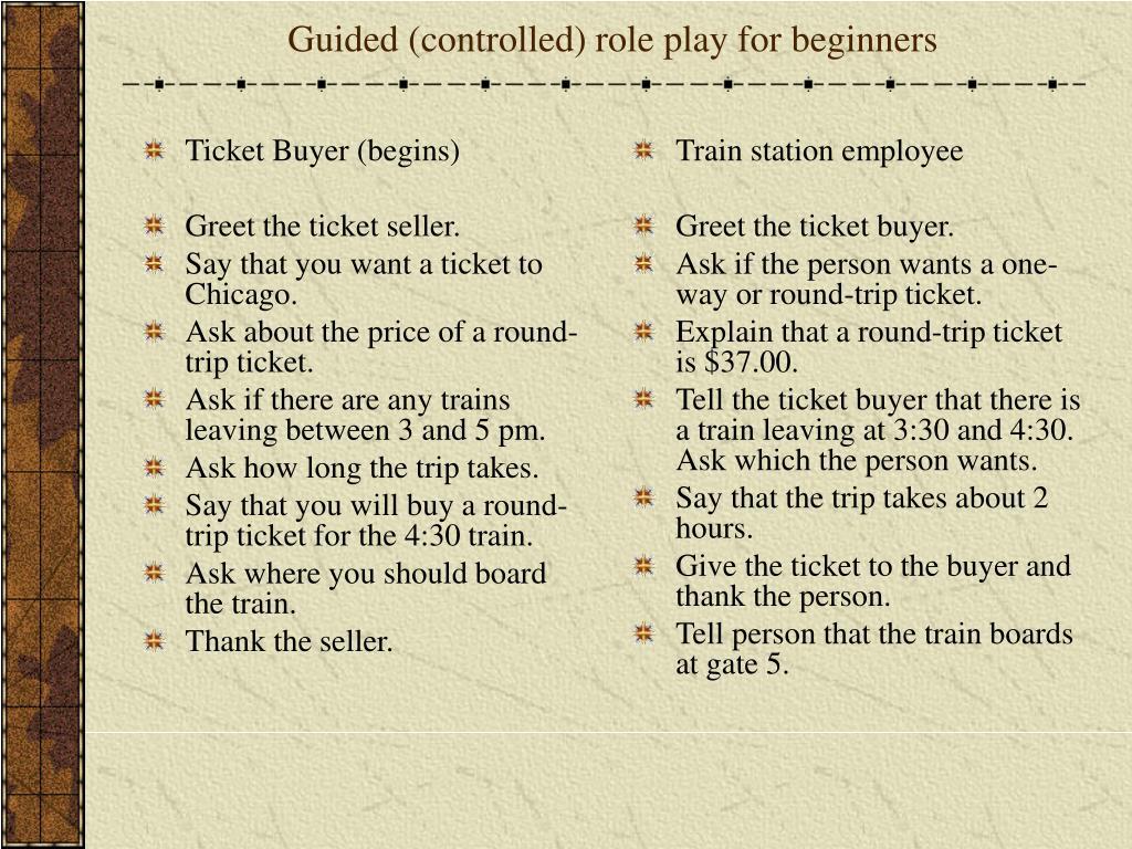 Ticket Buyer (begins)