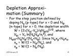 depletion approxi mation summary