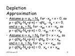 depletion approximation