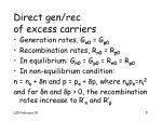 direct gen rec of excess carriers