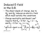 induced e field in the d r
