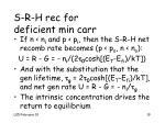 s r h rec for deficient min carr
