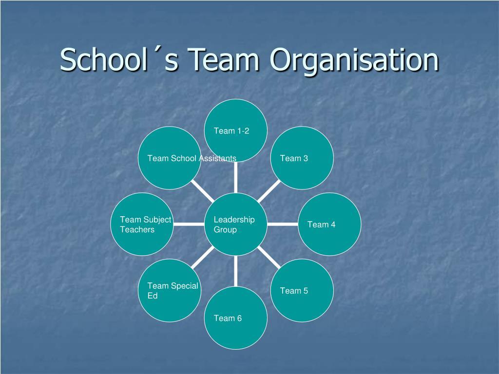 School´s Team Organisation