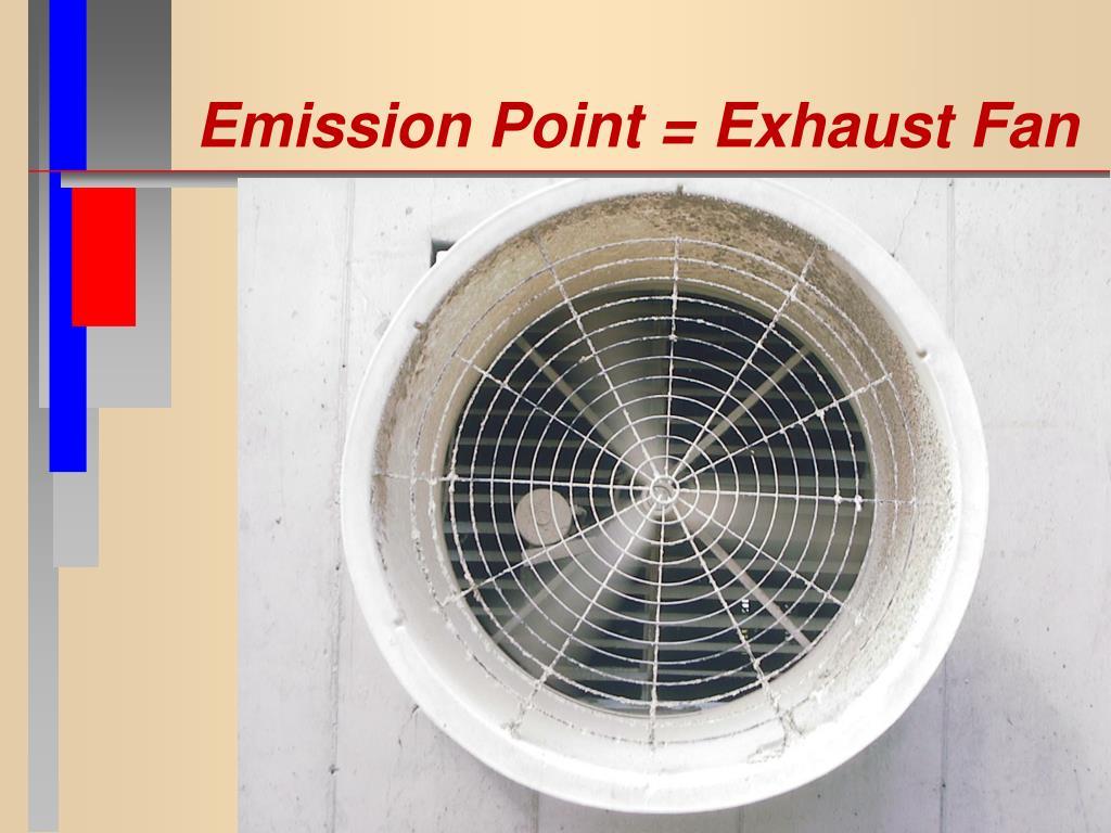 Emission Point = Exhaust Fan