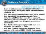 statistics summary