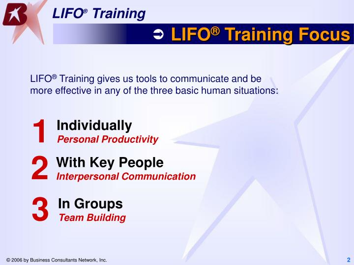 Lifo training focus