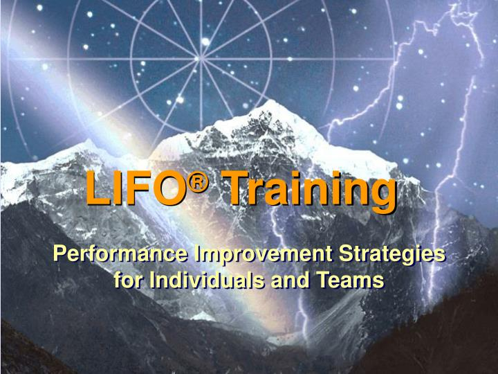 Performance improvement strategies for individuals and teams