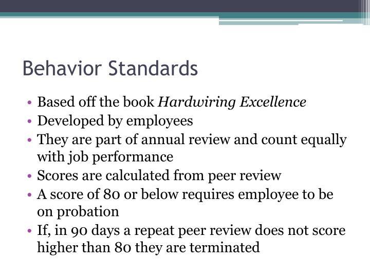 Behavior Standards