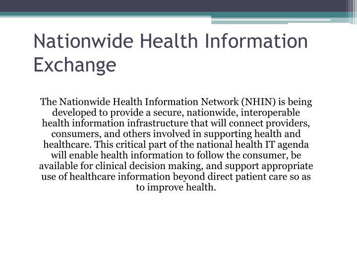 Nationwide Health Information Exchange