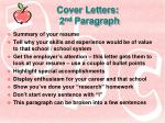 cover letters 2 nd paragraph
