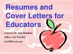resumes and cover letters for educators23
