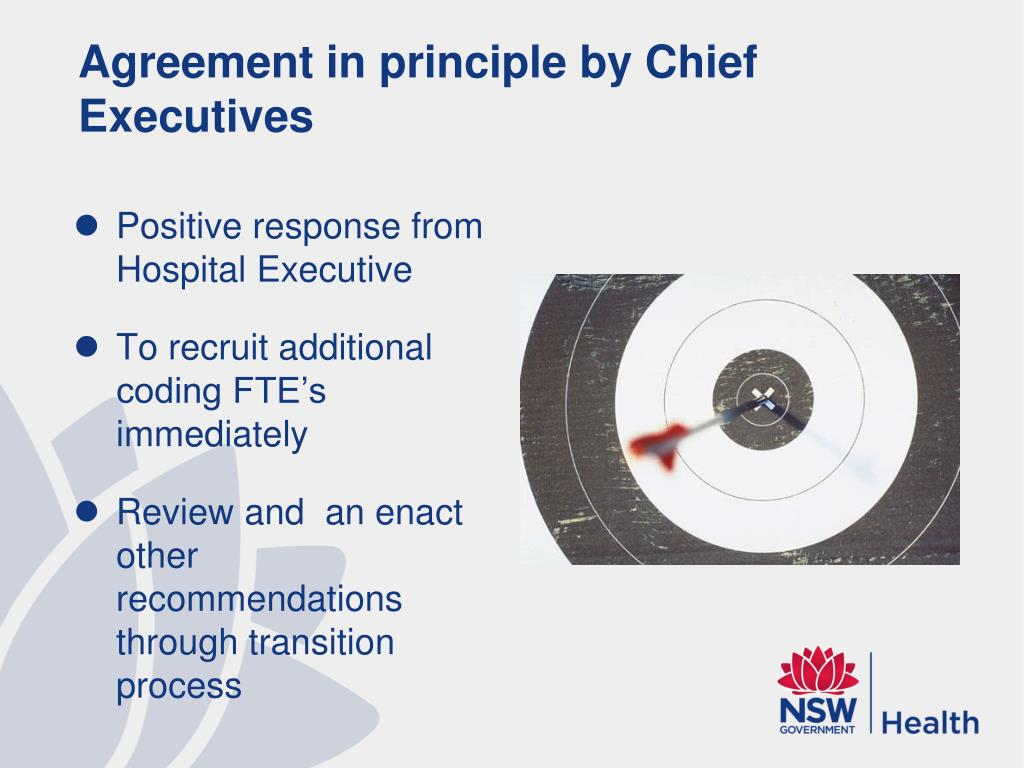 Agreement in principle by Chief Executives