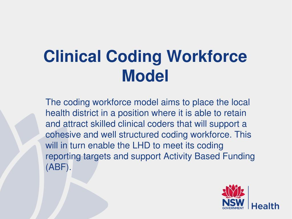 Clinical Coding Workforce Model