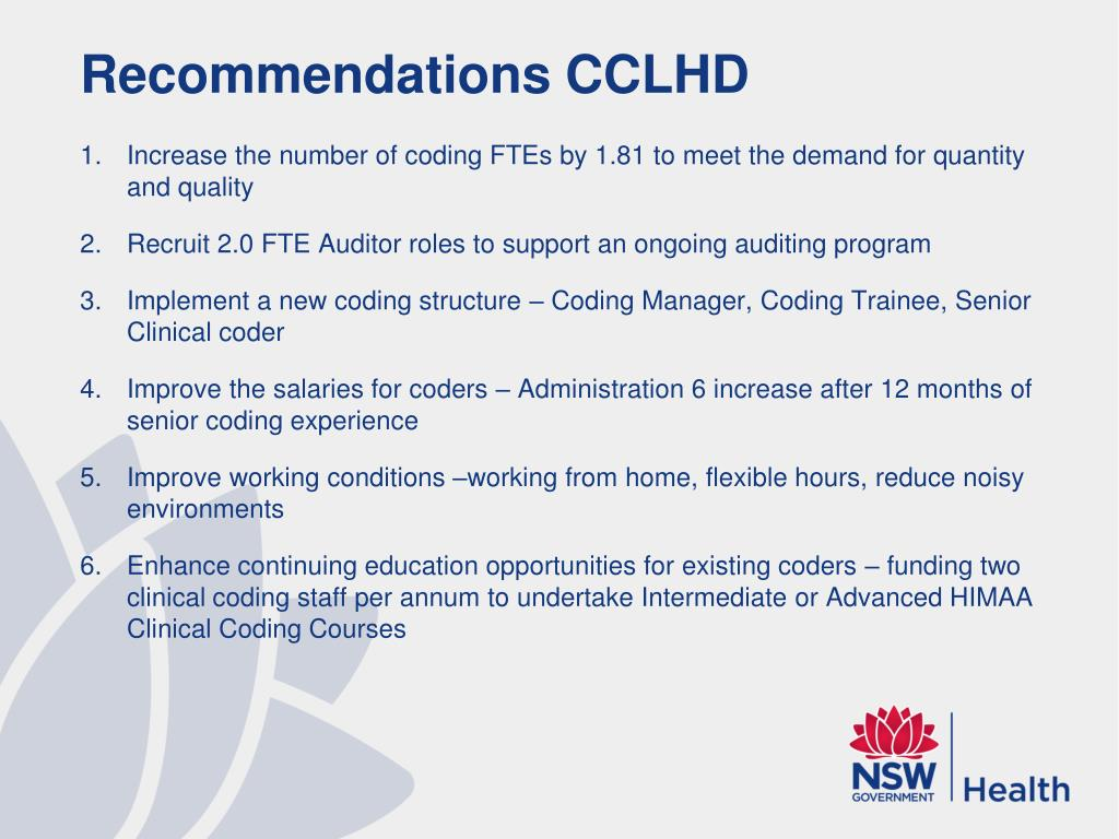 Recommendations CCLHD