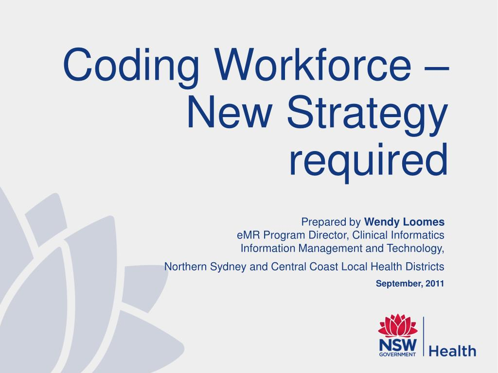 Coding Workforce – New Strategy required