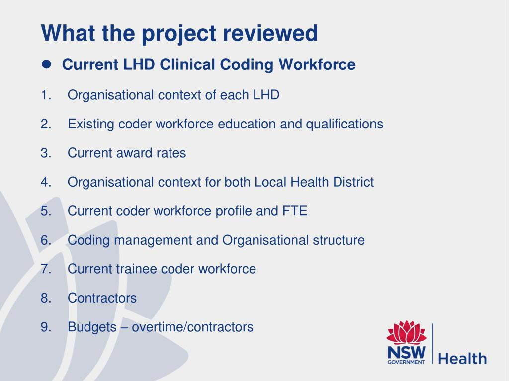 What the project reviewed