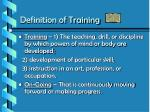 definition of training