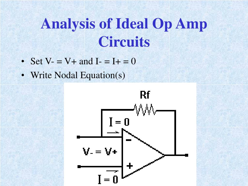 Analysis of Ideal Op Amp Circuits