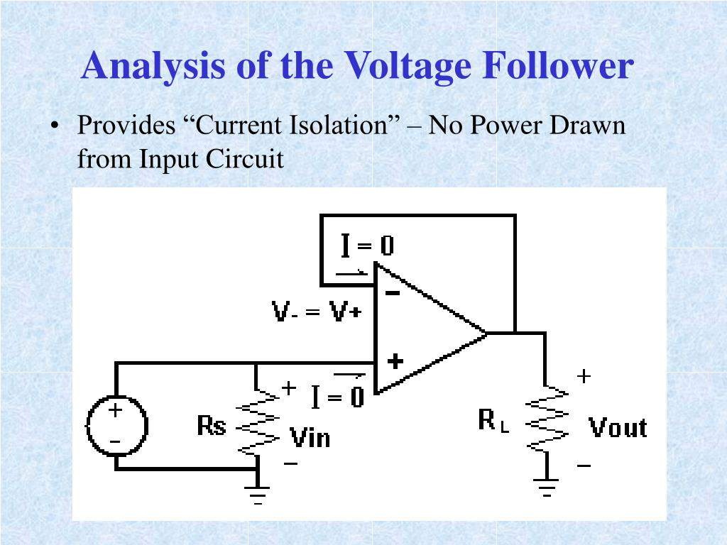 Analysis of the Voltage Follower