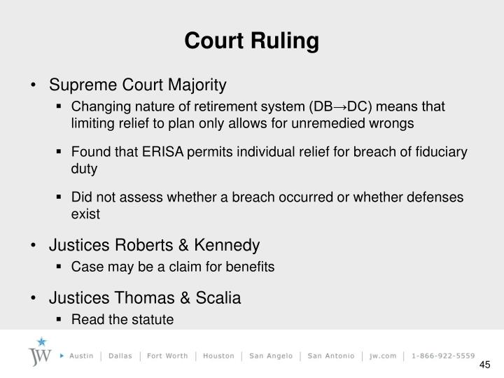 Court Ruling
