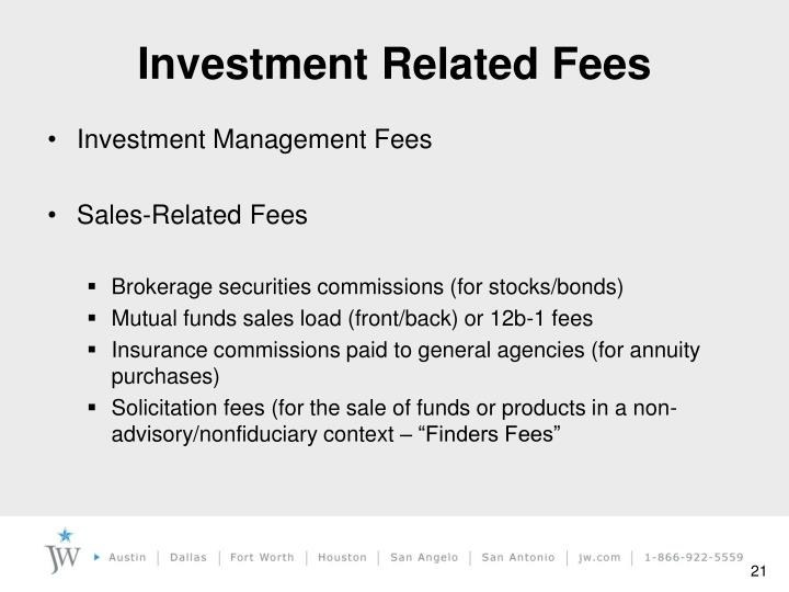 Investment Related Fees
