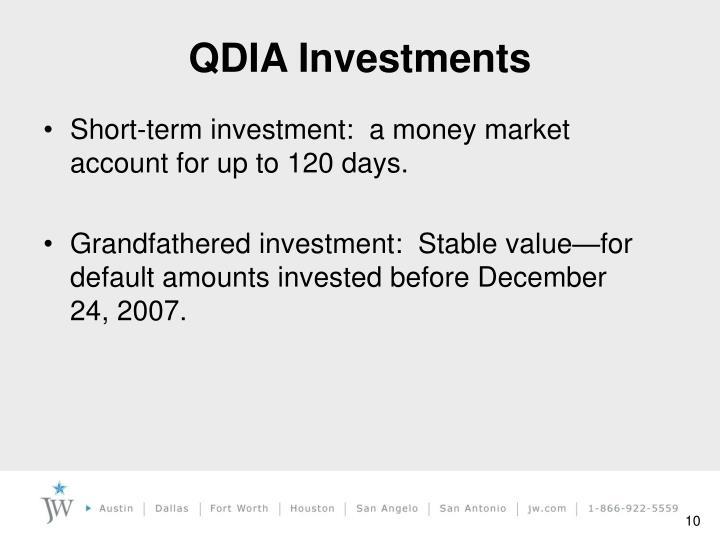 QDIA Investments