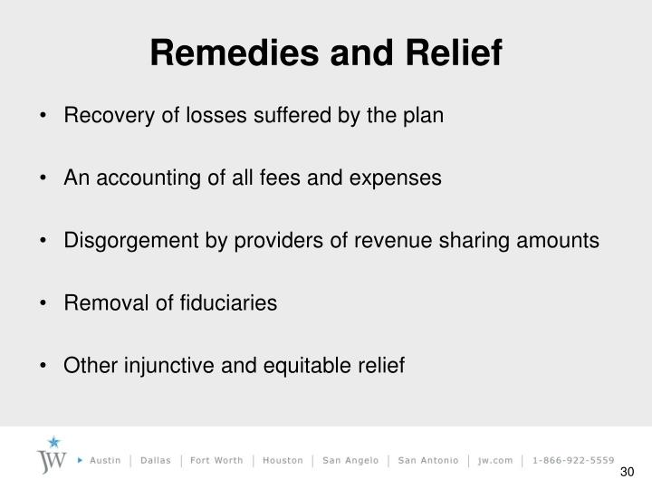 Remedies and Relief