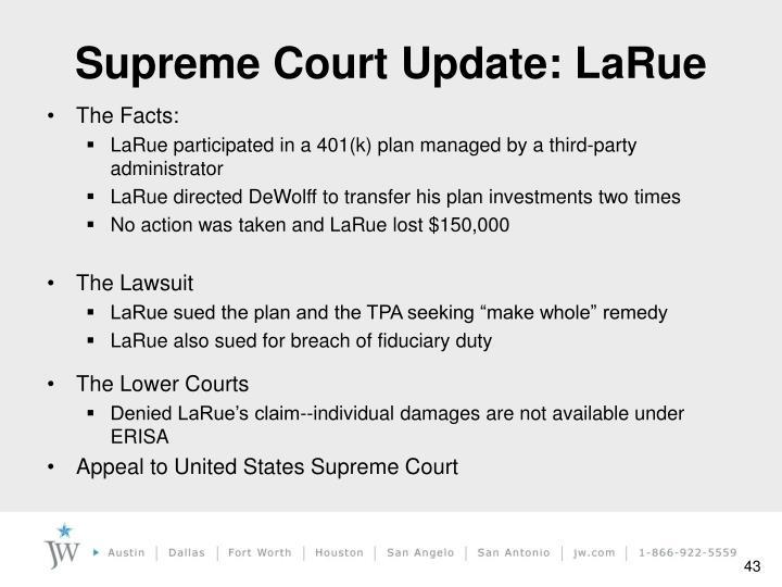 Supreme Court Update: LaRue