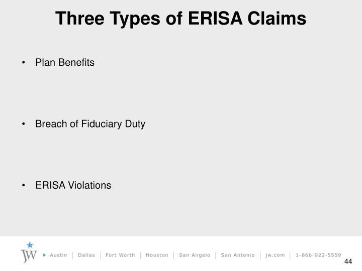 Three Types of ERISA Claims