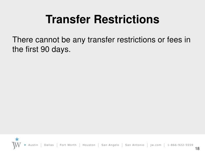Transfer Restrictions