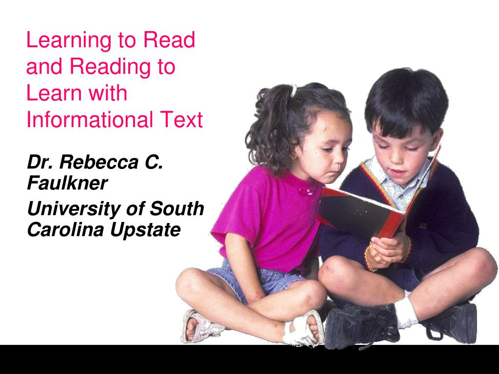 learning to read and reading to learn with informational text l.
