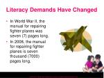 literacy demands have changed