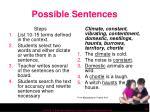 possible sentences