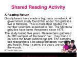 shared reading activity