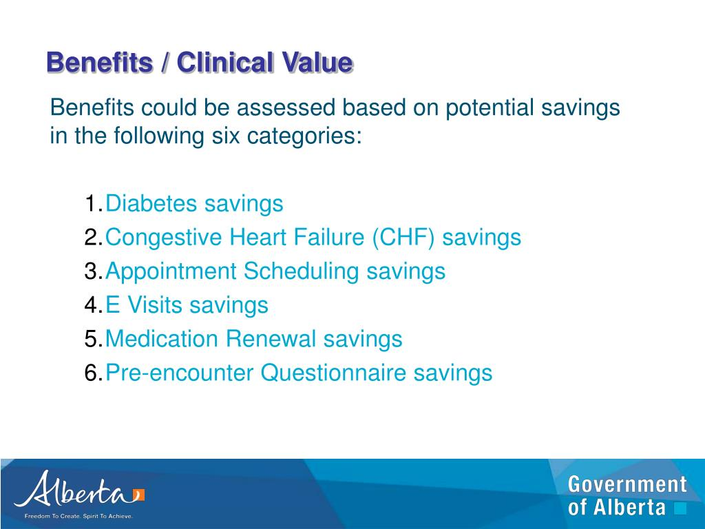 Benefits / Clinical Value
