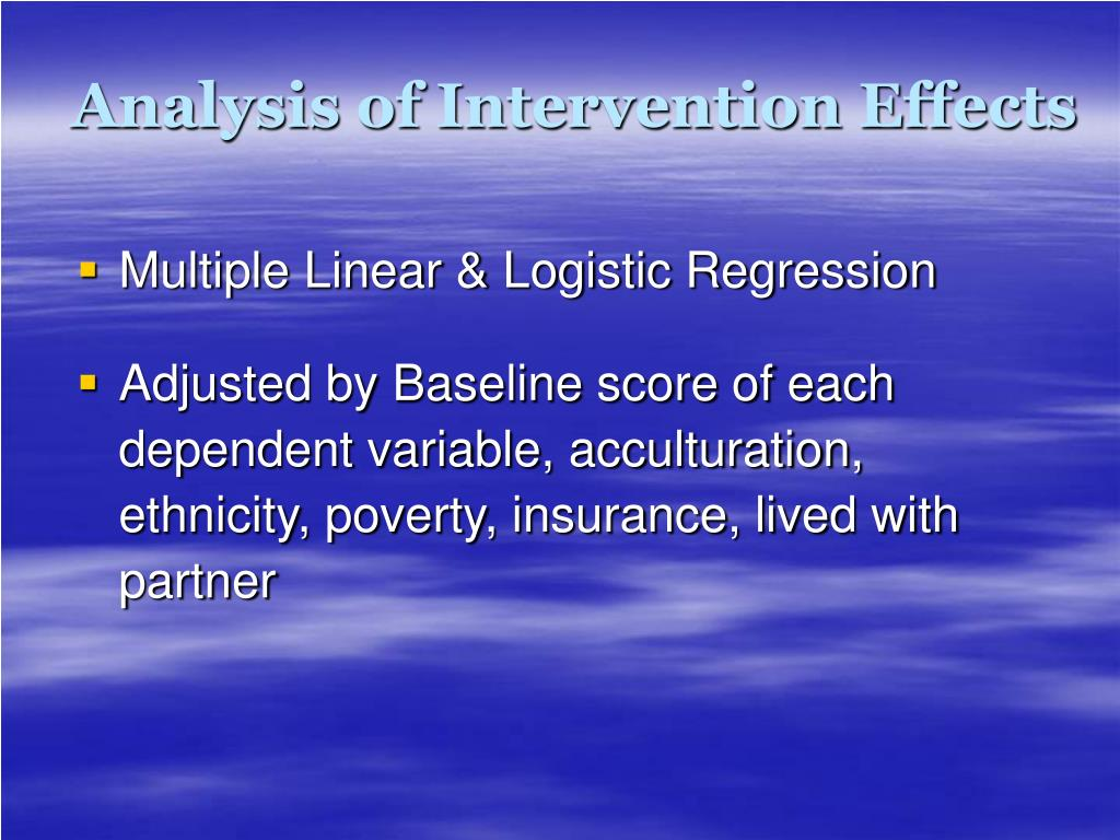 Analysis of Intervention Effects