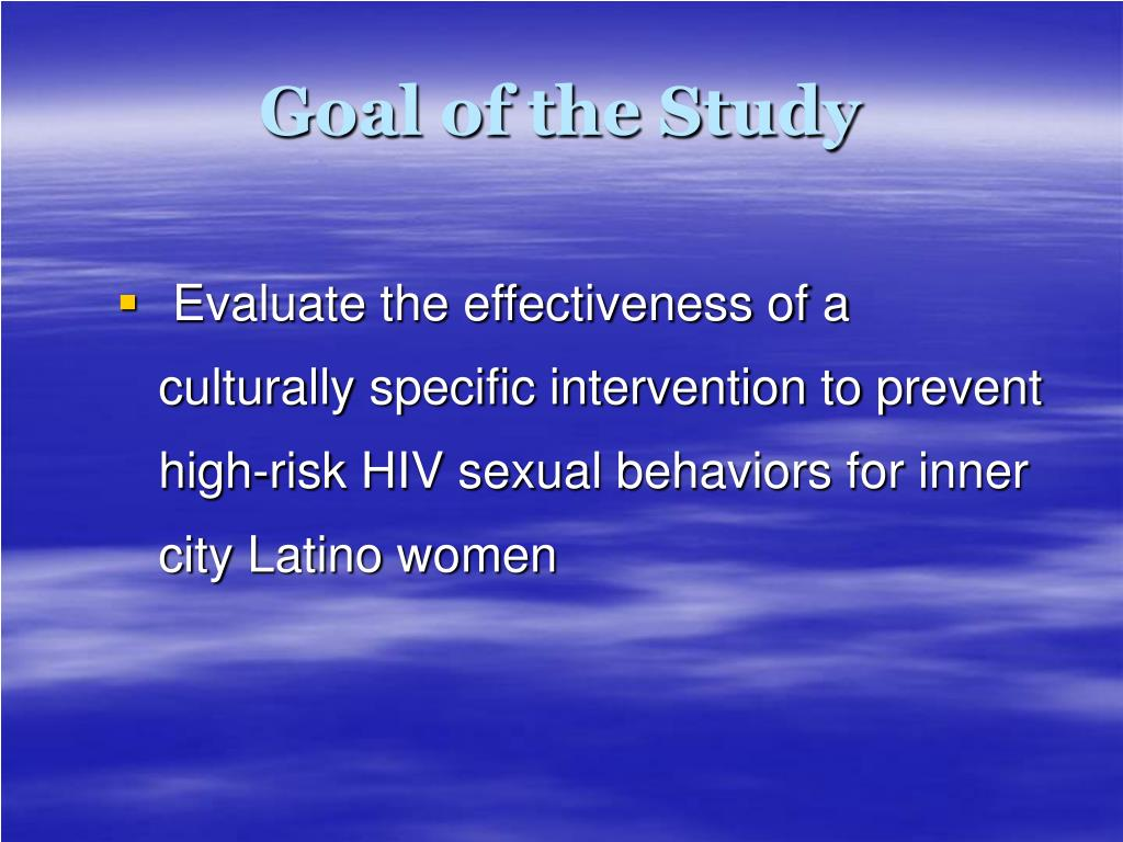 Goal of the Study