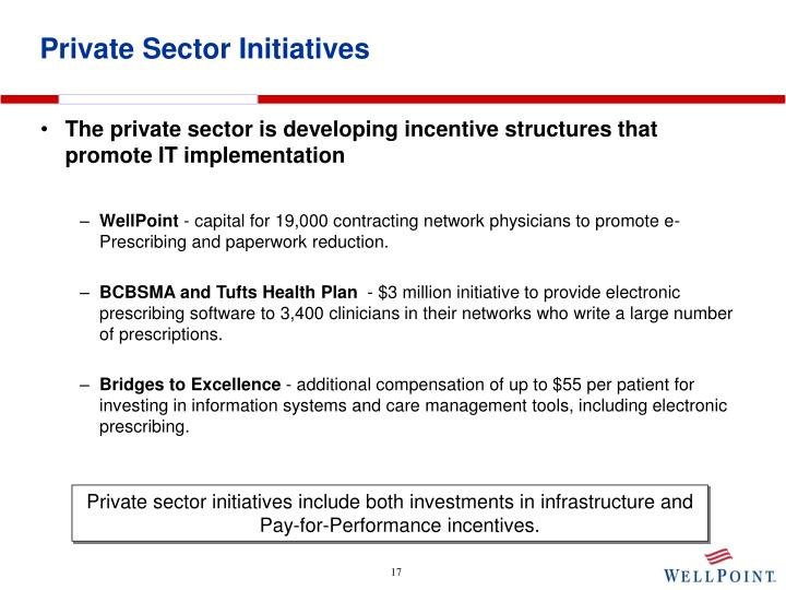 Private Sector Initiatives