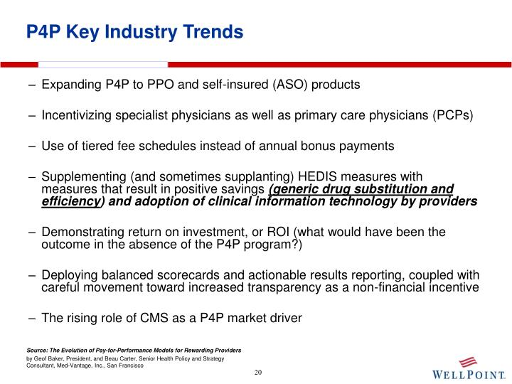 P4P Key Industry Trends