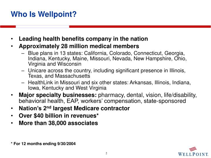 Who is wellpoint