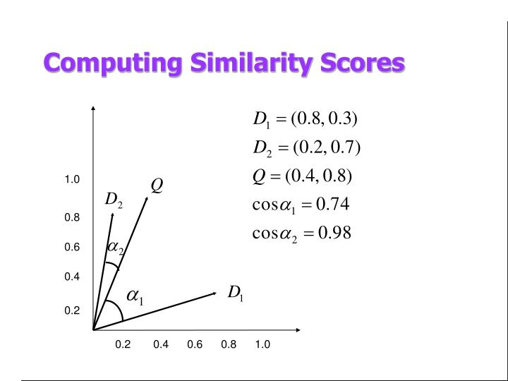 Computing Similarity Scores