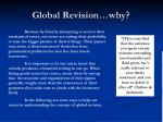global revision why