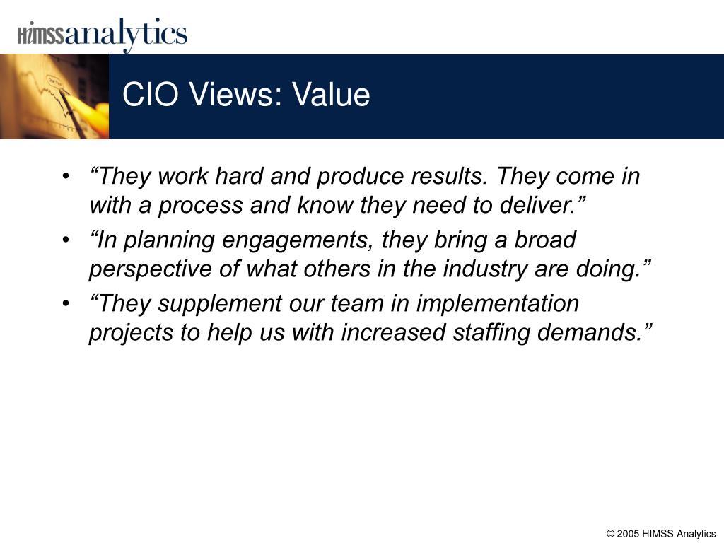 CIO Views: Value