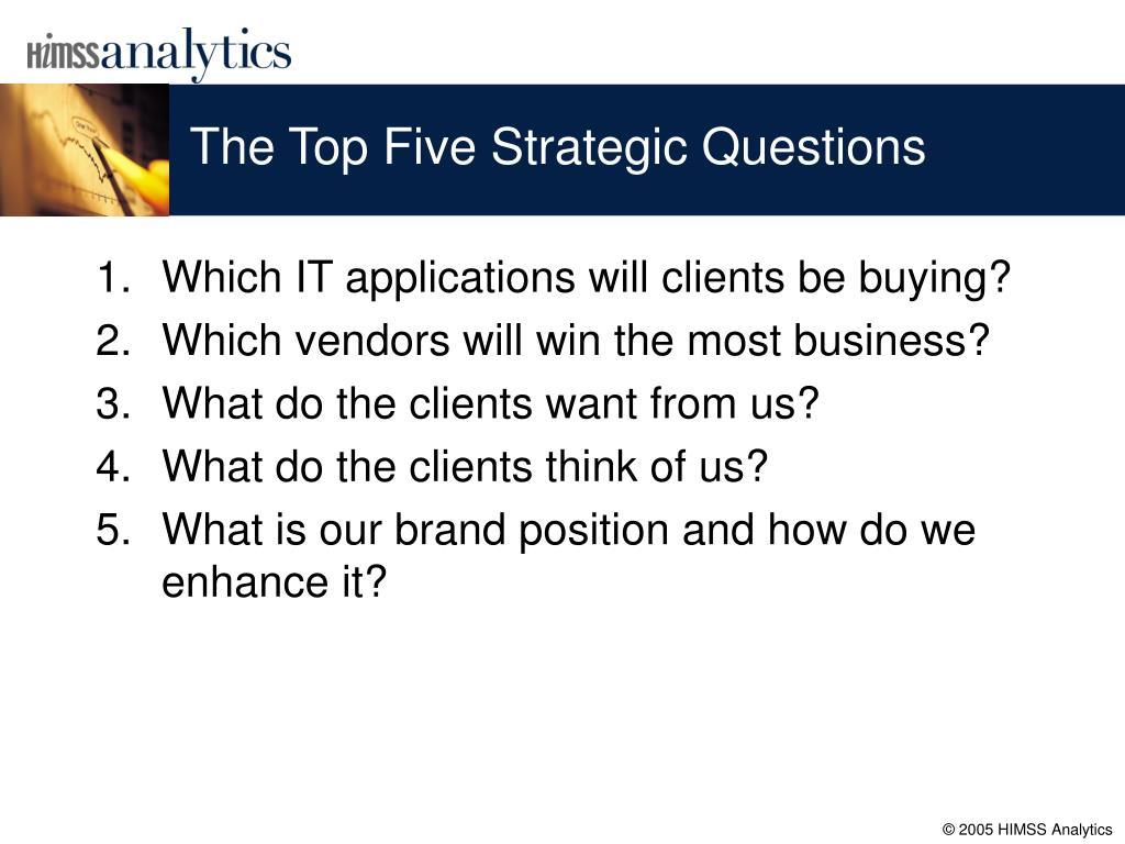 The Top Five Strategic Questions