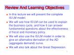 review and learning objectives