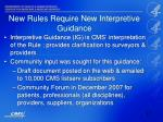 new rules require new interpretive guidance