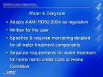 water dialysate