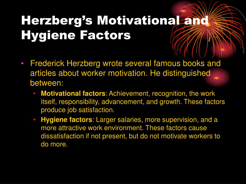 Herzberg's Motivational and Hygiene Factors