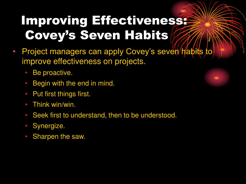 Improving Effectiveness: