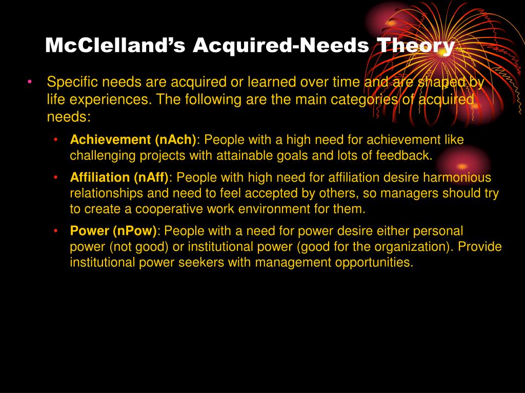 McClelland's Acquired-Needs Theory